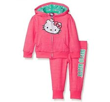 NWT Hello Kitty Baby Girls 2pc Hoodie and Pant Set Outfit Pink Size:12 Month