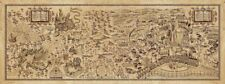 """28""""x10"""" Map of Harry Potter Retro Poster - Hogwarts, Diagon Alley, Hogsmeade Map"""