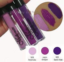 3 pcs Kleancolor MADLY MATTE Purple LIP GLOSS Purple Matte Lipgloss 18,21,39