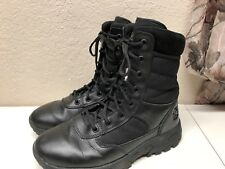 Womens Military Tactical Canvas Leather Boots Army Combat Hiking Police Size 9.5