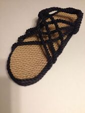 Womens Size 9 Rope  Sandals Navy.