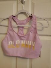 *Nwt*Large Sports Bra Racer back Purple Lilac Medium Support Old Navy
