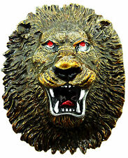 Lion boucle de ceinture lion head animal sauvage gros chat authentique dragon designs produit