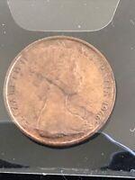 Error 1966 AUSTRALIAN 2 CENT COIN  Dramatic crack to Obverse.