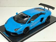1/12 GT Spirit Kyosho Lamborghini Aventador Liberty walk  Blue Carbon base