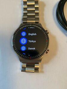 Porsche Design Huawei Watch GT 2 4GB VID-B19 Bluetooth Smartwatch- Titanium Grey