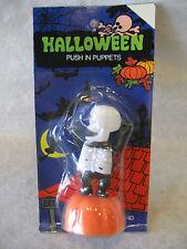 vintage Halloween Skeleton monster toy push puppet Moc Hong Kong Rare figure Mip