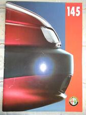 Alfa Romeo 145 brochure Nov 1995