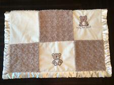 HTF Bear Patchwork Baby Blanket • Sweet Dreams • Beary Best Friend • Cloud Stars