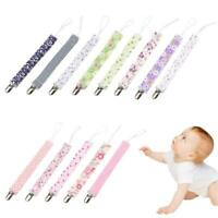 Newborn Baby Pacifier Clip Chain Dummy Nipple Leash Strap Soother Teether Holder