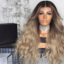 Ladies Natural Blonde Long Curly Wigs Women Wavy Hair Cosplay Wig GO9