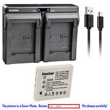 Kastar Battery Dual Charger for Kodak KLIC-7005 K7600-C 1615350 EasyShare C763