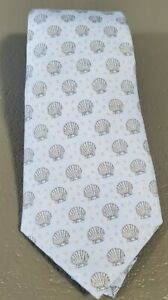 Vineyard Vines Silk Youth Necktie Seashell Beach Kids Boys NWT Blue