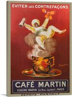 ARTCANVAS Cafe Martin 1921 Canvas Art Print by Leonetto Cappiello