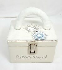 RARE Vintage 1999 Sanrio HELLO KITTY Snow ANGEL White COSMETIC Vanity Makeup Bag