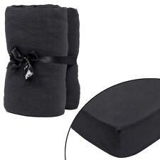 2x Jersey Spannbettlaken Spannbetttuch 100%25 Baumwolle Bettlaken mehrere Auswahl