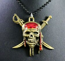 Alloy Pirates of the Caribbean Pendant Necklace w/Free Jewelry Box and Shipping