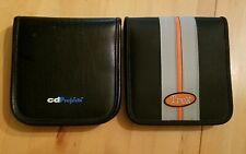 (2) Audio CD DVD Disc Holder Zipper Wallet Trex Nylon cdProject ~ 24 Discs Each