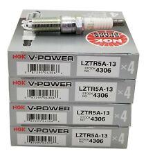 Premium OEM Set LZTR5A13 NGK V-Power Spark Plugs #4306 4 pcs