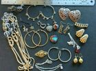 Estate Lot Vintage to Modern Costume Jewelry Crystal Pins Necklace Earrings