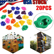 20 Pcs/Set Textured Climbing Holds Rock Wall Stones Holds Grip For Kid Sports