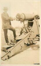 1920s Man Military Cannon RPPC Real photo postcard 8154