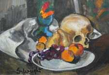 Early American Abstract Modernism oil, Still life painting,