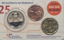 2017 - DAG van de MUNT NEDERLAND- 20 + 5 cent in officiële COIN CARD  + Penning