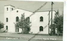 CALIFORNIA, LANCASTER COMMUNITY CHURCH 1950'S REAL PHOTO  (CA-L MISC)