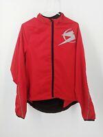 SUGOI Full Zip Cycling Jacket Reflective 3M Red Black Men's Medium Sz Medium