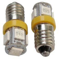 2x ampoules E10 5LED SMD 12V lumière orange