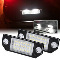 Pair LED Rear Number License Plate Light For Ford Focus 2 C-MAX 2003-2008
