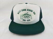 Vintage Millet School Reunion 1990 Farmer Trucker Snapback Mesh Green Hat Cap