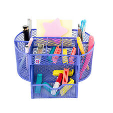 Pro Space Desktop Organizer Mesh Office Pencil Holder Desk Organizer,Blue