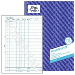 1x Avery Zweckform A4 Kassenbuch Nr. 426 mit Steuerschiene 300 mit Blaupapier