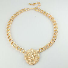 New Fashion Gold Lion Choker Collar Pendent Necklace Jewelry Accessory Gift UK