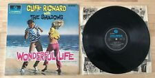 RARE ENGLISH LP CLIFF RICHARD WITH THE SHADOWS  WONDERFUL LIFE