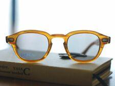 Mens retro light gray lens sunglasses johnny depp glasses blonde frame SMALL