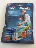KoolioBandz Children's Identity Wristbands Blue Age 6 - 10 (Pack Of 2 Bands) New
