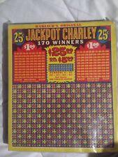 Jackpot Charley Punchboard