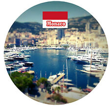 MONACO - SIGHTS / FLAG - ROUND NOVELTY SOUVENIR FRIDGE MAGNET - NEW - GIFTS