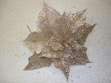 """Christmas Picks Floral 10 pc 6"""" Poinsettia Wholesale Lot Bulk Crafts Decorations"""