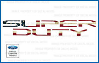 2017 Ford F250 Super Duty Tailgate Letters Decals Stickers - AMERICAN FLAG WORN