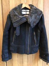 Gorgeous Topshop Boutique Black & Grey Sheepskin Jacket, Size 6, £325, BNWT
