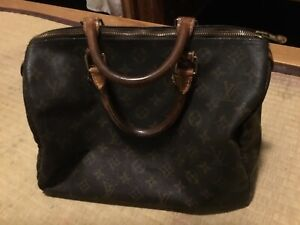 Authentic  Louis Vuitton LV Monogram canvas Speedy 30 Hand Bag