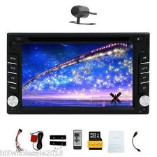 Car DVD Player Double 2 Din GPS Navigation System Bluetooth Stereo 6.2''+Camera