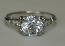 2ct Off White Moissanite Wedding Engagement Ring 925 Sterling Silver Ring