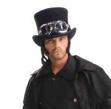 Steampunk gafas aviator Goggles-AVIADOR gafas schweißerbrille negro/plata