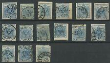 Lombardo Veneto 45 centesimi - lotto di 15 francobolli
