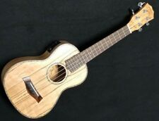 "Kilauea Spalt EQ 26"" Tenor Sz Acoustic Electric Spalted Maple Ukulele"